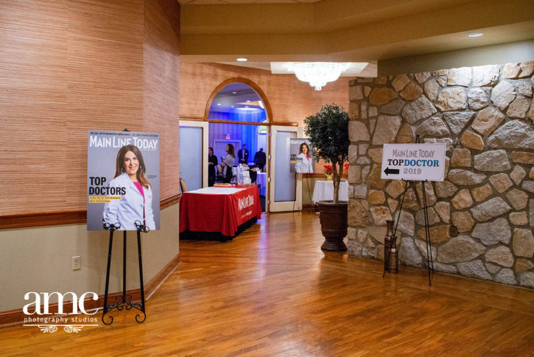 Entry way to a commercial Main Line Today Magazine event